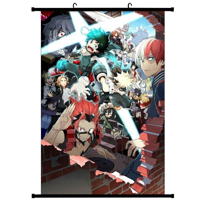 Картина прокрутки японского Аниме Boku No Hero academic холст Художественная Настенная картина постер украшение для дома