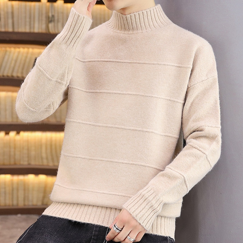 New Winter Thick Warm Turtleneck Cashmere Sweater Men Top Quality Warm Pull Homme Fashion Mens Christmas Sweaters And Pullovers