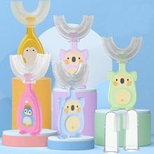 Children's Toothbrush Baby U-shaped Child Toothbrush Teethers Soft Silicone Newborn Brush Kids Teeth