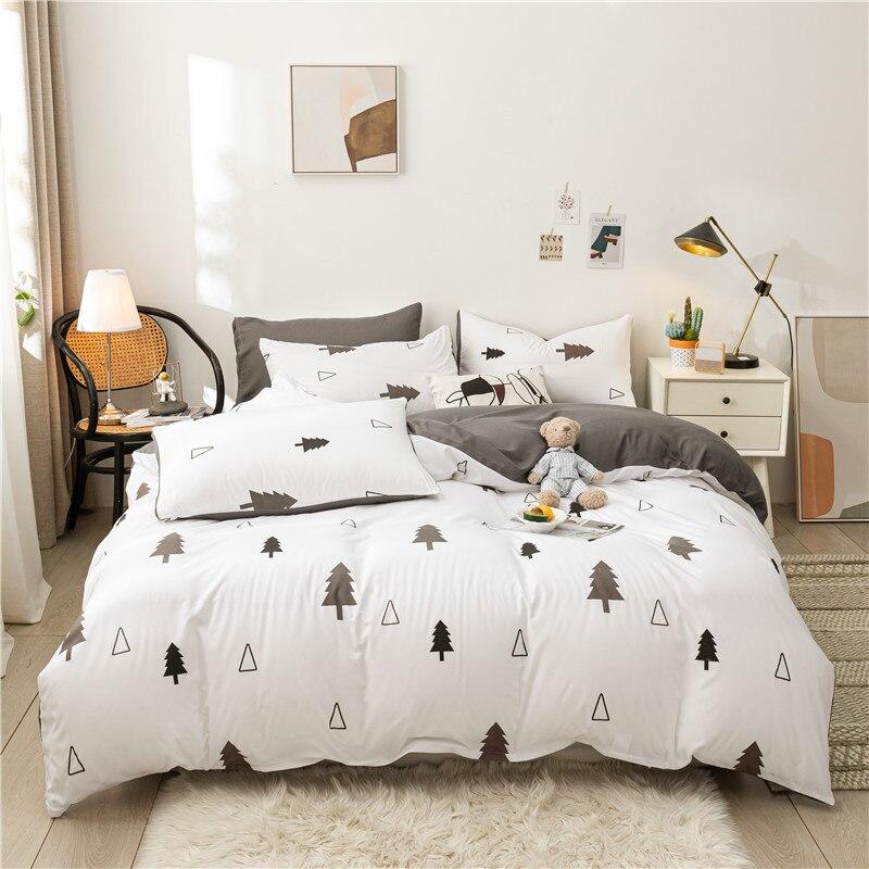 حاف الغطاء وسادة طقم سرير من بسيط مخطط لحاف تمتد الأثاث يغطي المخدة بطانية سرير الوسائد ديكور المنزل