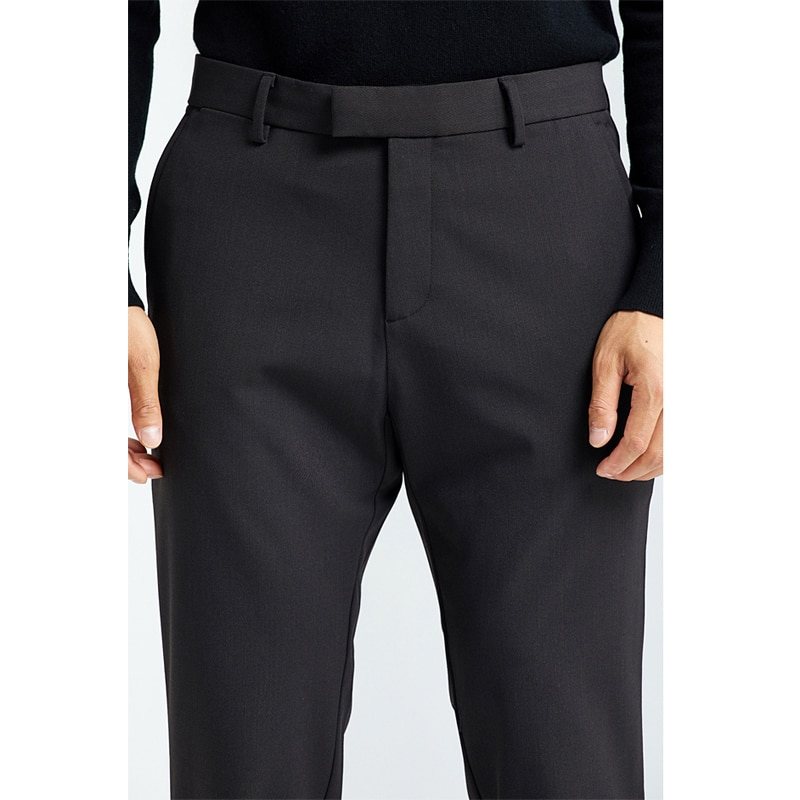 Autumn and winter new high count Australian wool wrinkle resistant twill men's wool casual pants