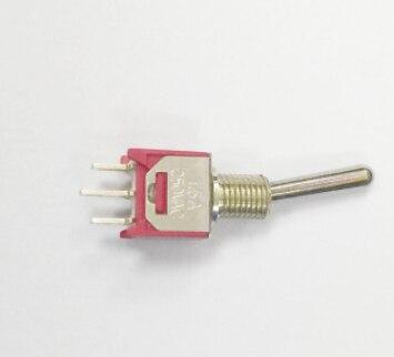 Envío gratis 2 unids/lote interruptor basculante botón subminiatura Taiwán 3 pies, 3 engranajes 6mm apertura 1,5 a 250v