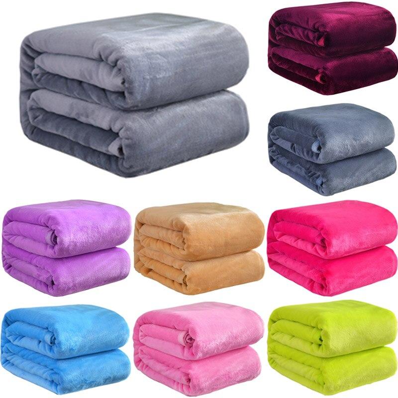 بطانية من صوف المرجان الدافئة الناعمة, مفرش وملاية سرير ، أريكة ، مقاس 4 ، خفيف الوزن ، نحيف ، بطانيات وبرية ، غسيل ميكانيكي