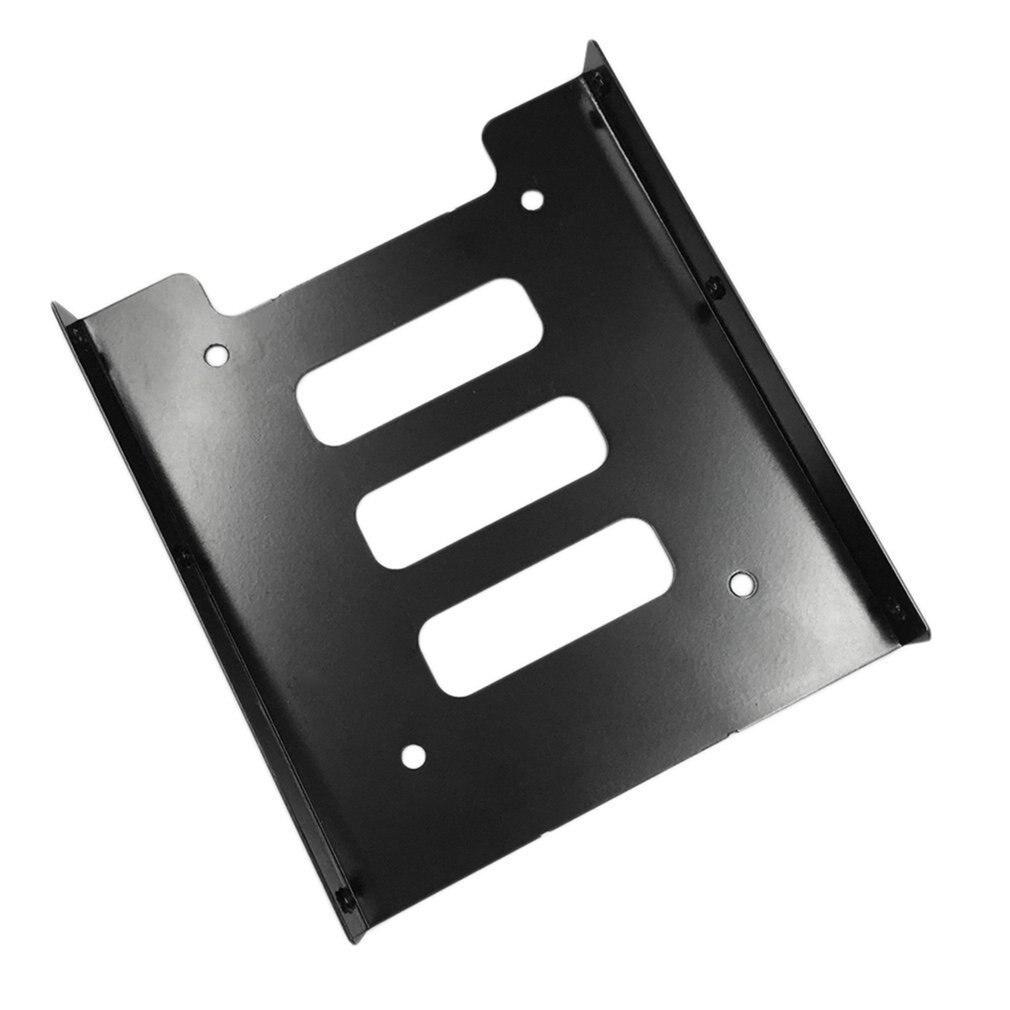 Professionele 2.5 Inch Tot 3.5 Inch Ssd Hdd Metal Adapter Rack Harde Schijf Ssd Montage Bracket Houder Voor Pc Zwart