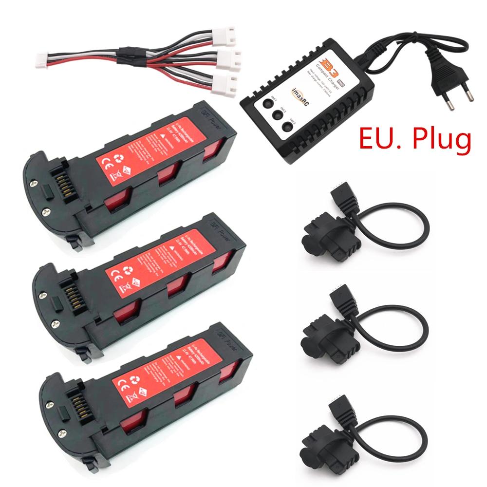 Mejora 11,4 v 4200mAh batería con cargador para Hubsan H117S Zino GPS RC FPV cámara de carreras Drones Quadcopter partes 11,4 V batería
