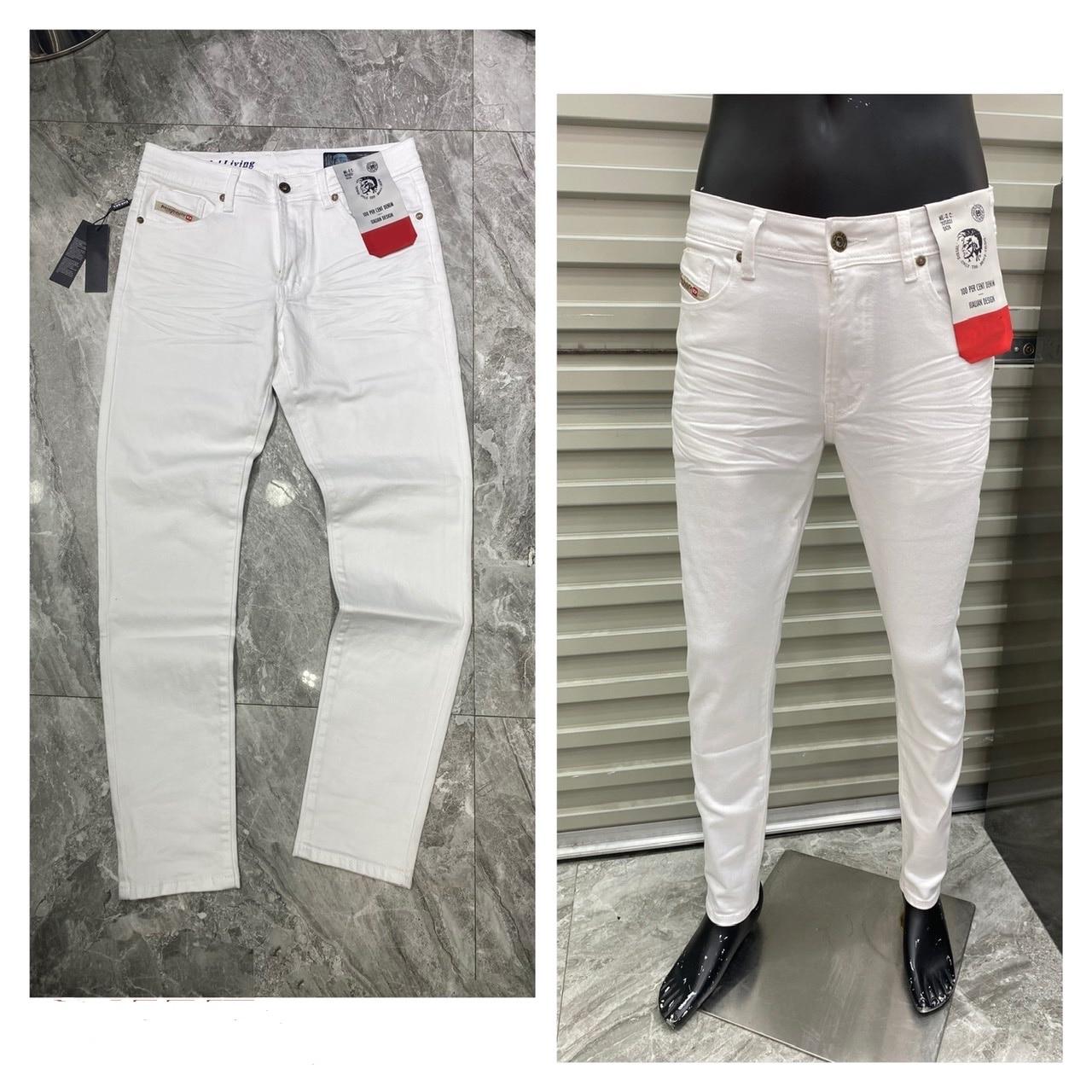 2021 New Tide Brand Authentic Men's Jeans Breathable Trend White Zipper Men Wild Fashion Warm Casual Men Long Pants