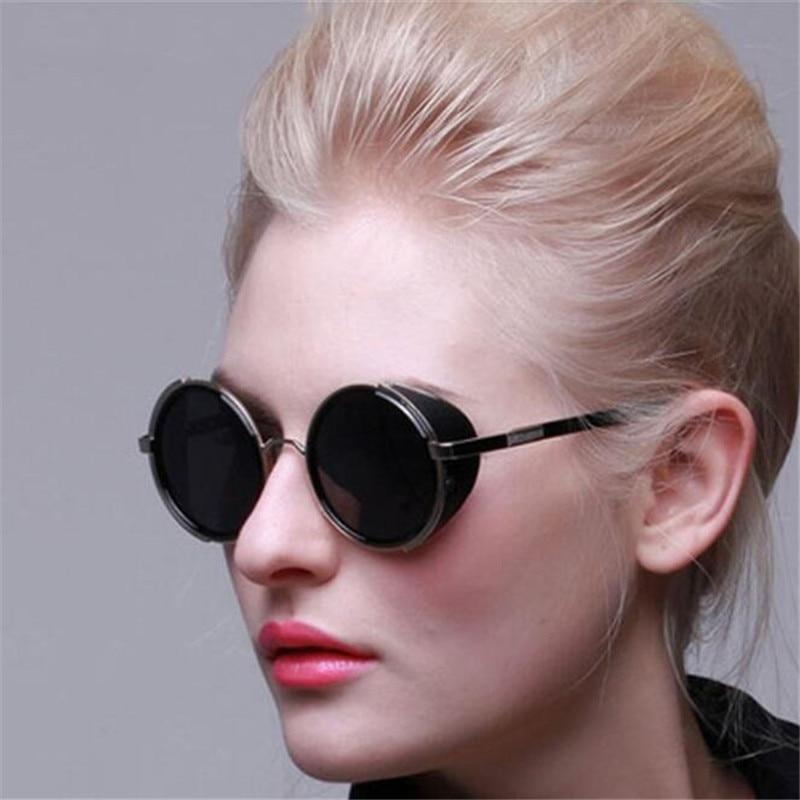Круглые Солнцезащитные очки в стиле панк, мужские солнцезащитные очки, женские очки, новые оттенки, женские очки, женские дизайнерские очки ...