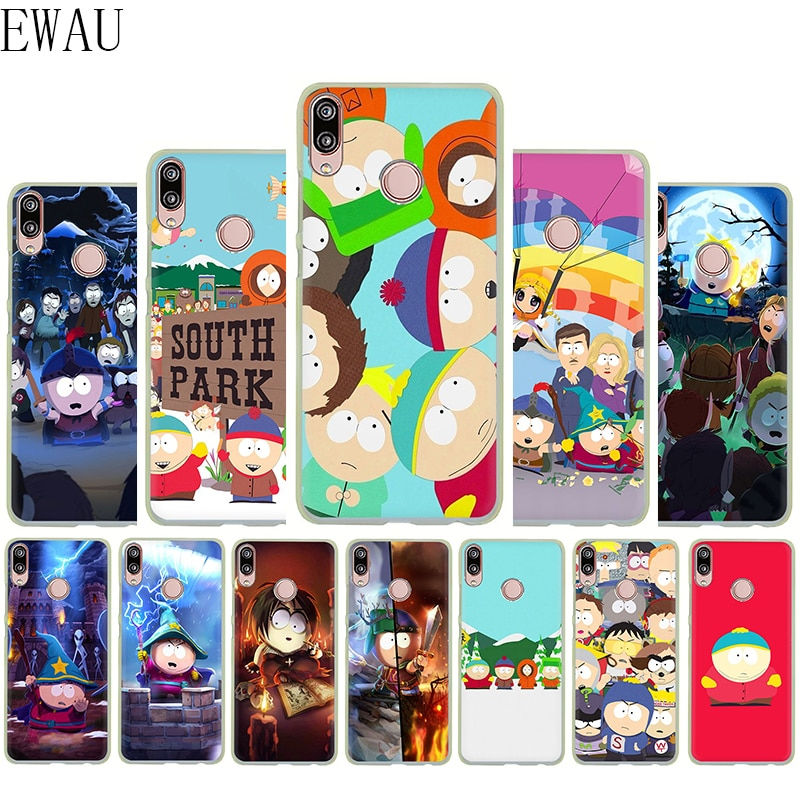 EWAU Anime Southpark de silicona suave Mattle funda del teléfono para Huawei P8 P9 P10 P20 P30 Lite mío Pro P Smart Z Plus