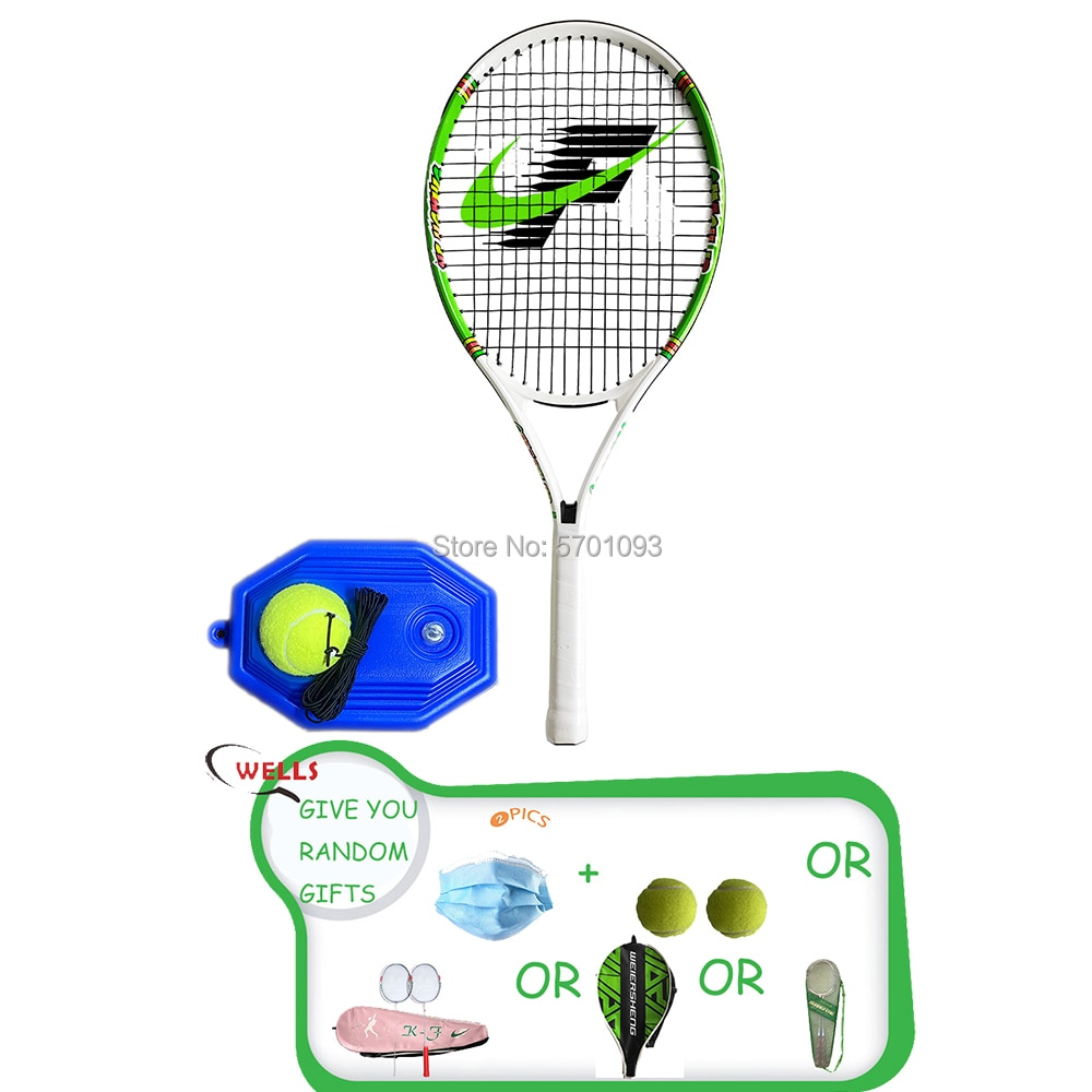 TENNIS NO. 25 Professional Tennis Racket Single Adult Paddle Men Women Universal Set With Bag Trainer Overgrip Ball Padel intelligent tennis trainer sensor smart tennis sensor tracker tennis racket motion analyzer padel tenis badminton ios android