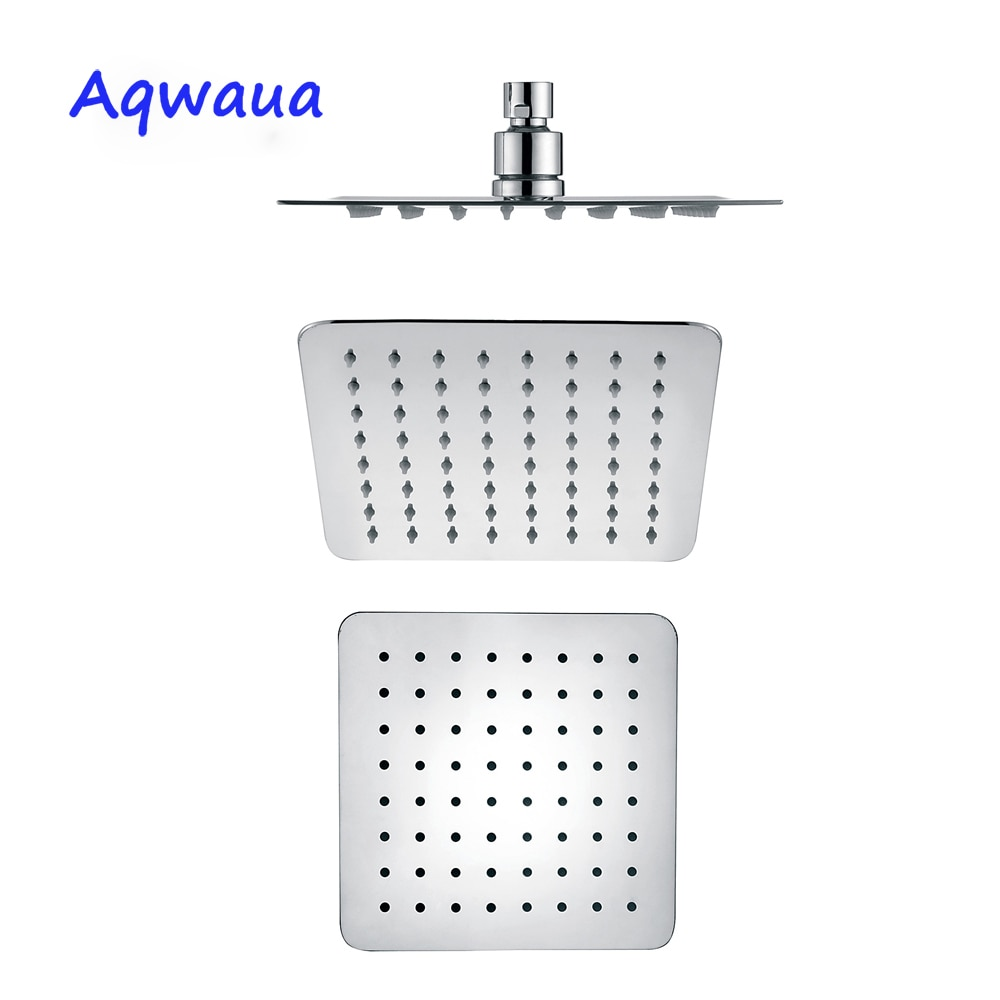 Cabeza de ducha de lluvia Aqwaua cuadrada de 6 pulgadas SUS 304, cabezal de ducha de lluvia para baño, accesorios de ducha para Baño