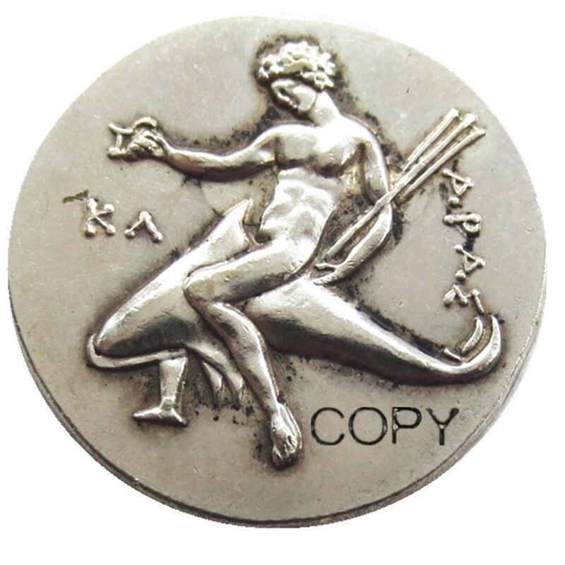 Moneda Didrachm de plata griega antigua G (25) de Taras-Copia de moneda BC 315