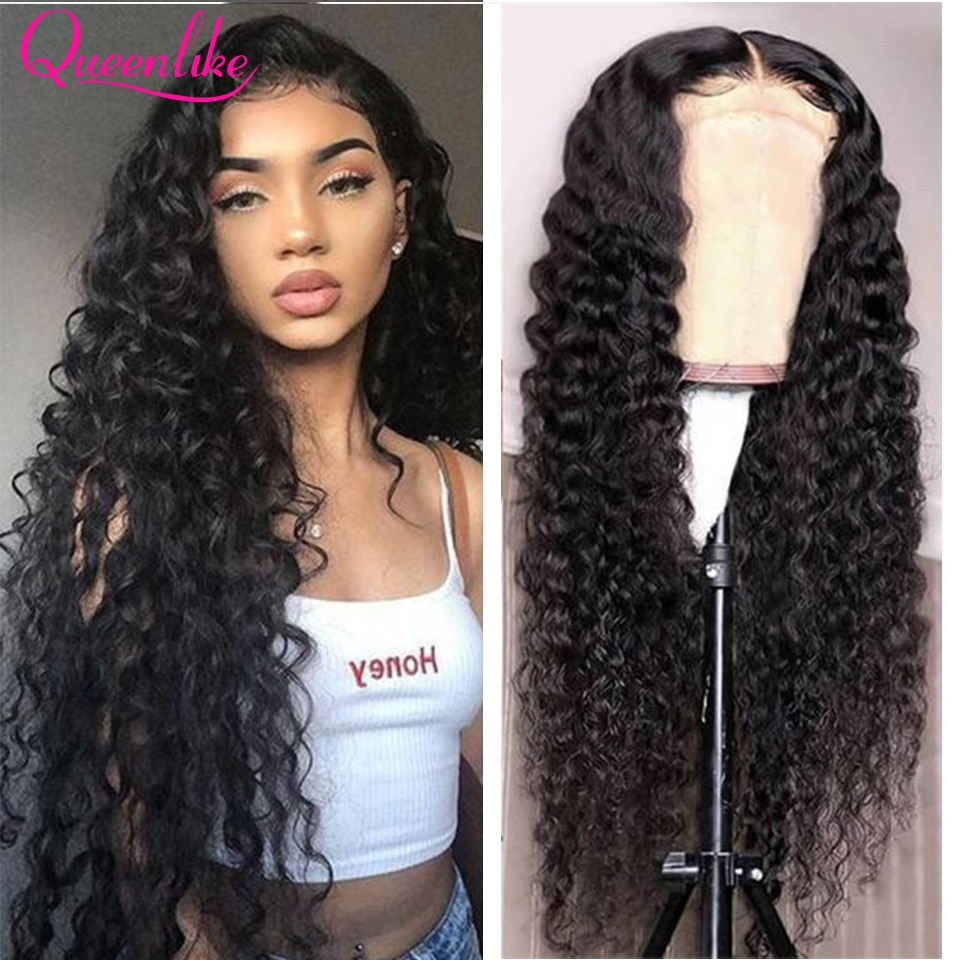 13x6 HD Transparent Lace Frontal Wig Water Wave Lace Front Wig For Black Women Water Wave 4X4 Lace Closure Human Hair Wigs