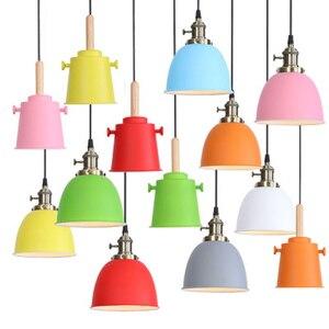 Nordic small chandelier creative personality macaron lamp bedroom bedside hanging light