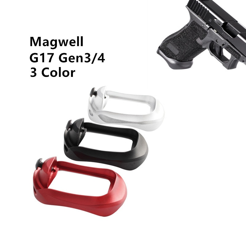 Glock PRO Plus aluminium Magwell dla Glock 17 22 24 31 34 35 37 Gen 1-4 czarny
