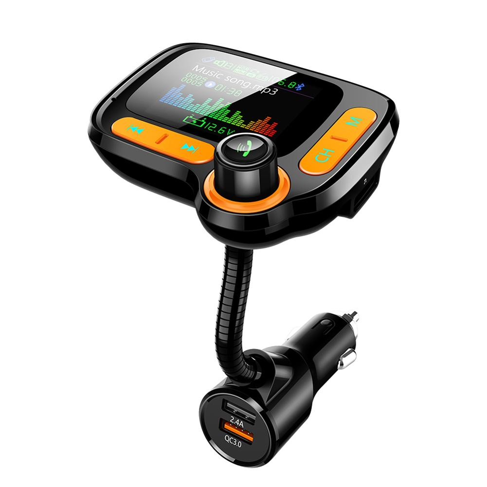 High Quality Bluetooth5.0 Car MP3 Player Car Kit Handsfree FM Transmitter QC3.0 Quick Charger TF AUX