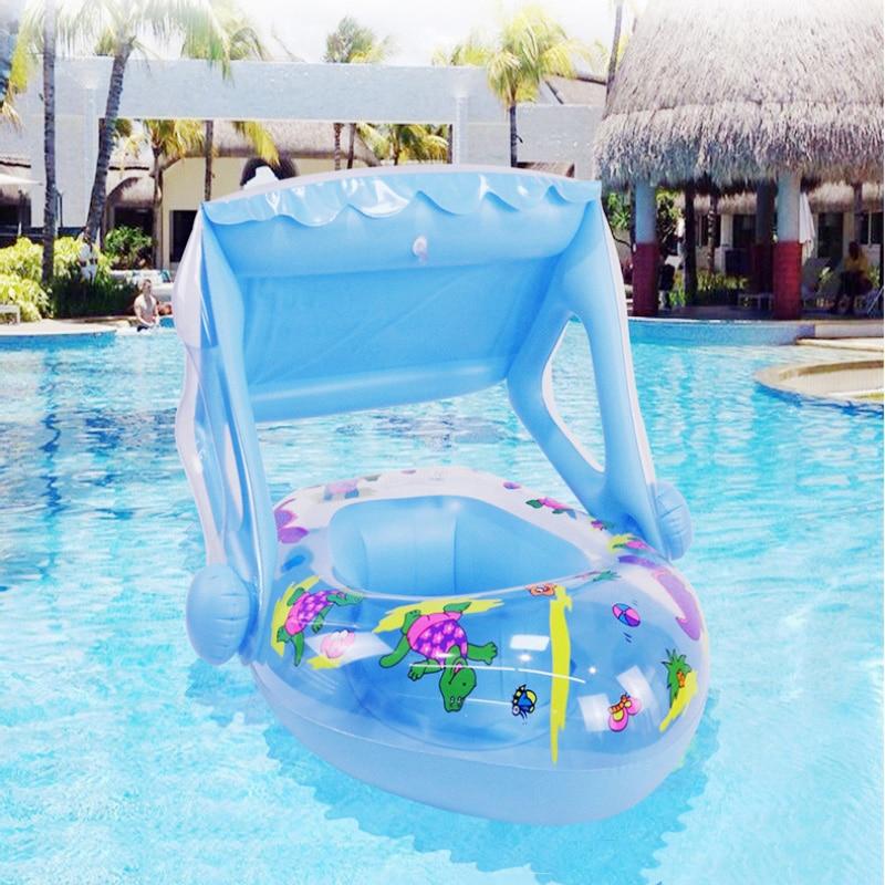 طفل طوافة بلاستيكية للسباحة نفخ العائمة الاطفال حمام سباحة مقعد مع مظلة ظلة ترقيات جديدة سلامة الصيف حمام سباحة اللعب