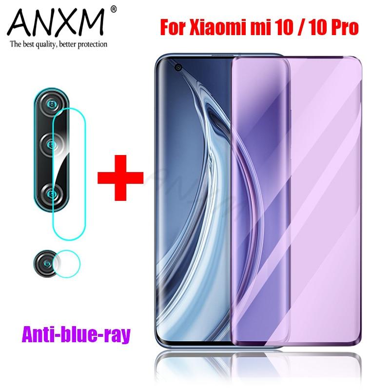 Full Tempered Glass For Xiaomi Mi Note 10 Pro 5G Cover Screen Protective Anti blue-ray Protector Film For Xiaomi Mi 10 Pro Glass