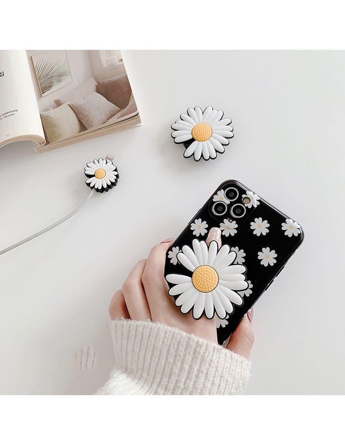 Bonito soporte de teléfono de crisantemo, soporte Universal plegable, bolsa de aire, soporte de bolsa de aire, toma de teléfono para iPhone 11 Samsung S20 S10
