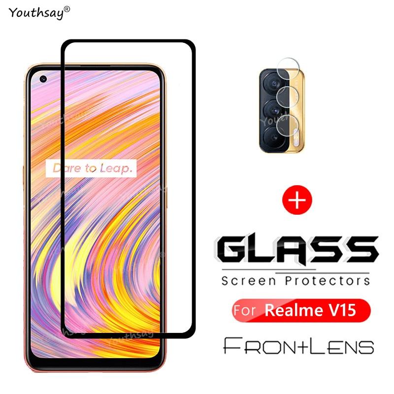 For OPPO Realme V15 Glass Screen Protector Tempered Glass Realme V15 5G Glass for OPPO Realme V15 Tempere Glass