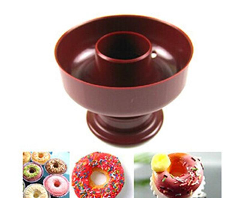 Máquina para hacer Donuts de plástico de grado alimenticio, herramientas para postres, máquina para hacer Donuts, cortadora de molde, herramienta para tartas y Fondant para Cocina