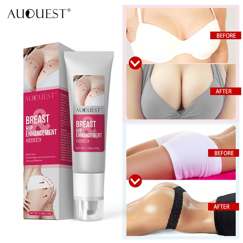 AuQuest Breast Butt Enhancer Skin Firming and Lifting Body Cream Elasticity Breast Hip Enhancement Cream Busty  Body Care
