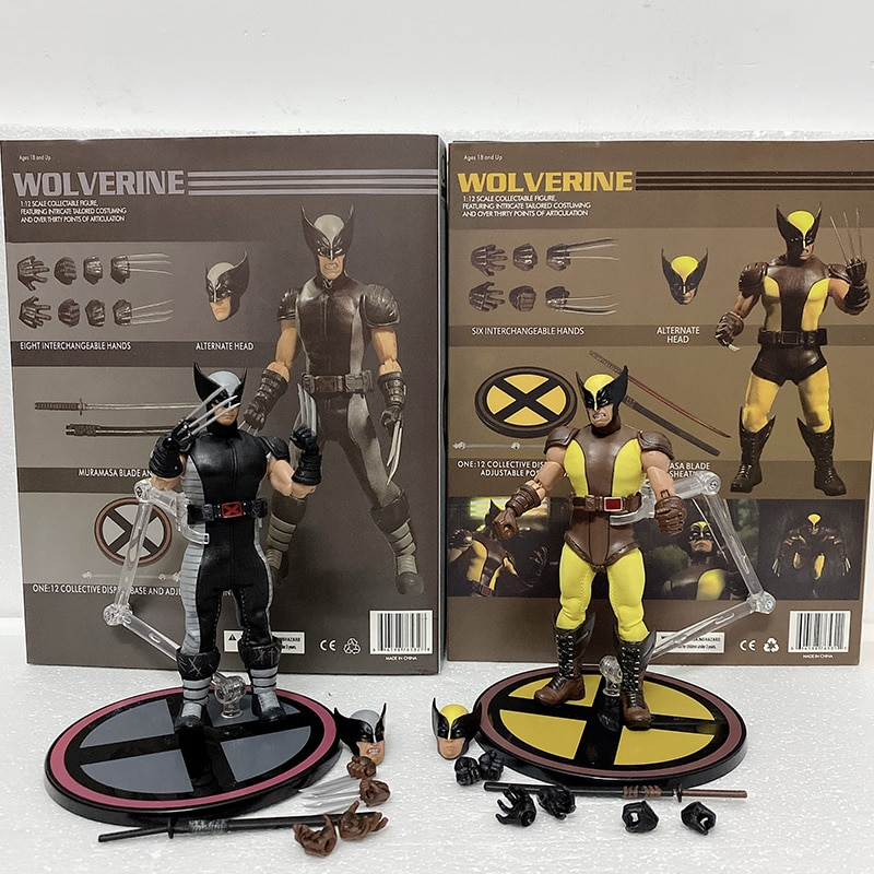 MEZCO Figure Mezco One12 Marvel Figure Wolverine Action Figures  BJD PVC Action Figures MEZCO Wolverine Toys Doll