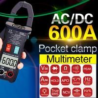 ZT-QB9 Токоизмерительные клещи DC/AC 600A Измерение тока TRMS Автоматический диапазон напряжения Амперметр Гц Ом NCV Тестер DMM мультиметр