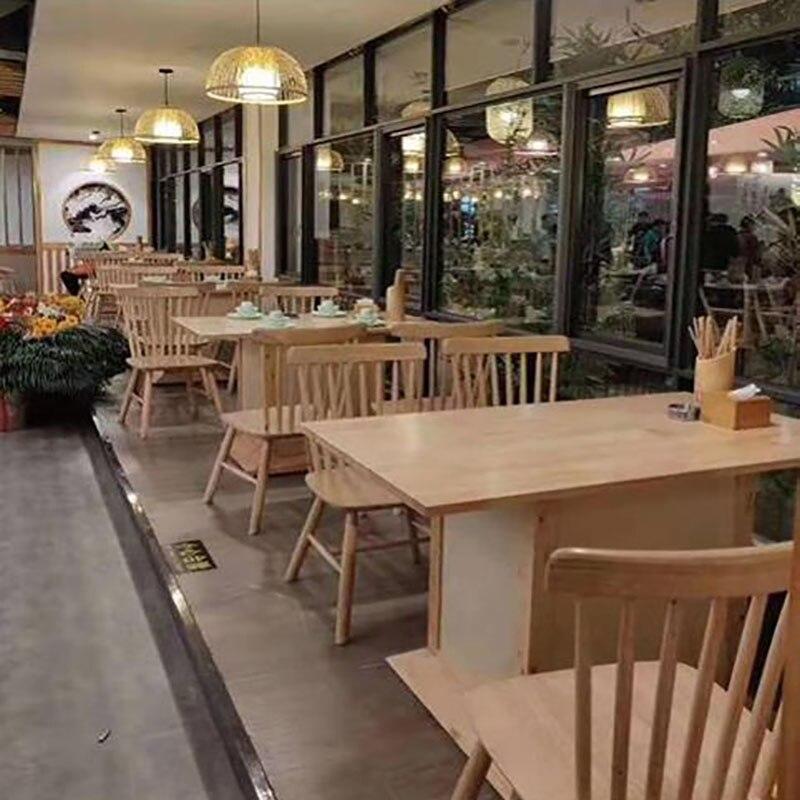Северный стул стол и стулья для гостиниц из массива дерева, комбинированная Коммерческая круглая китайская мебель для ресторанов, квадратн...