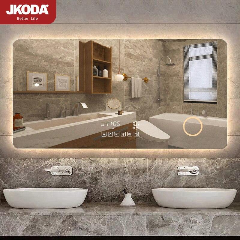 مرآة Led كبيرة للحمام المرايا الخفيفة مرآة الحائط المصففات الجدار الشنق حمام المرايا الحمام الغرور Espejo تركيبات الحمام BI50BM