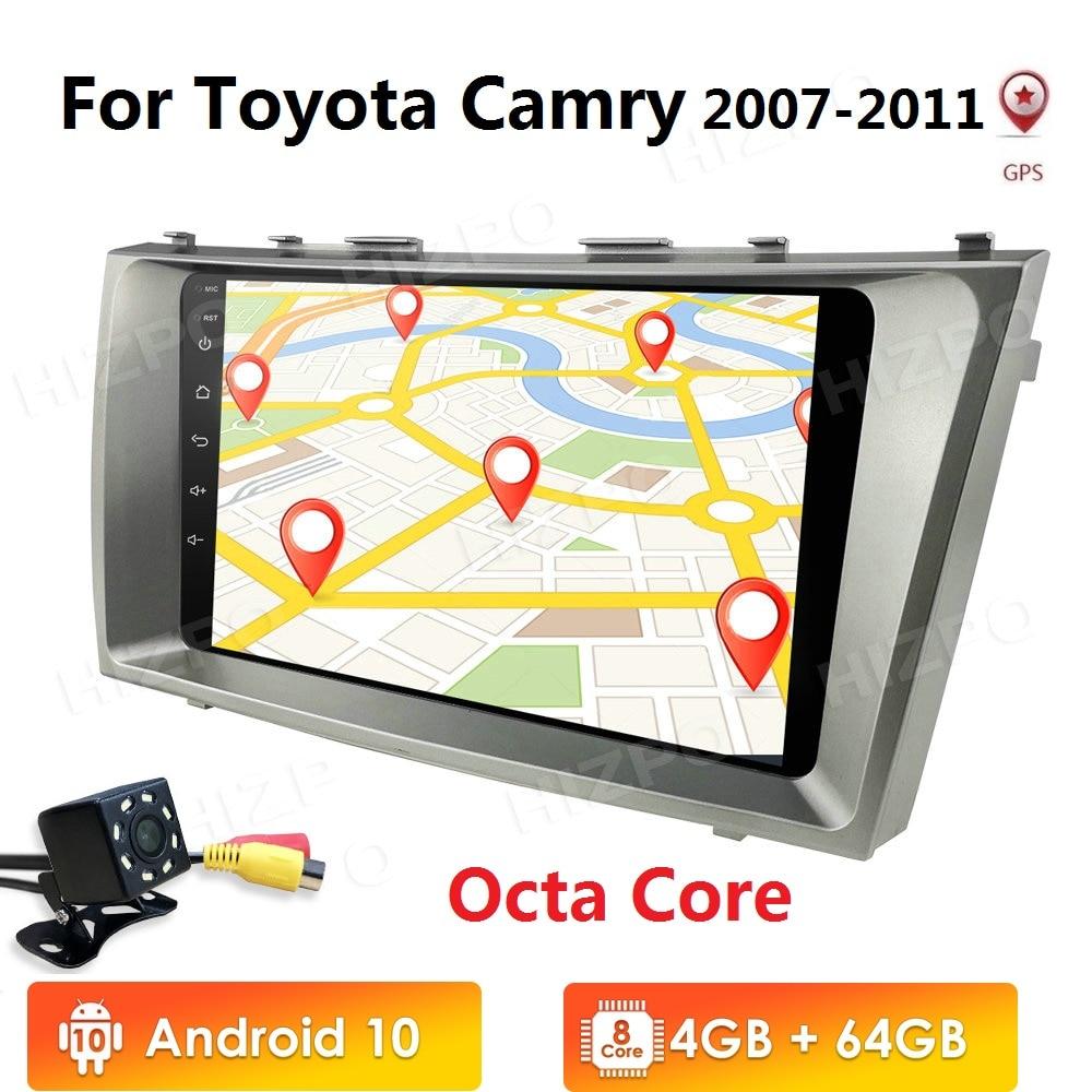 Radio GPS de navegación para coche 2din Android 10 4 + 64 PX5 de 8 núcleos para Toyota Camry 40 50 2007-2011, reproductor Multimedia estéreo para coche