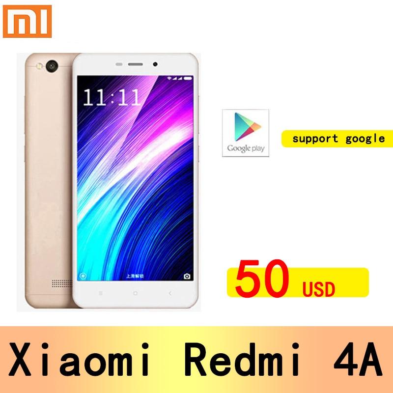 Xiaomi Redmi 4A googleplay smartphone Snapdragon 425 13.0MP rear camera Hybrid Dual SIM