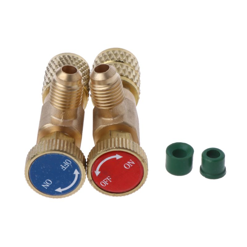 2Pcs/set Safety Valve R410A R22 Plus Fluoride Air Conditioning Refrigerant Safety Adapter Valve New 2019 free shipping hs 1222 r22 refrigeration charging adapter retention control valve