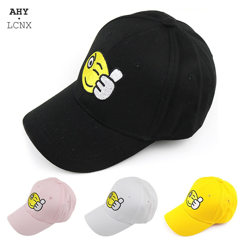 2020 New fashion Baby baseball cap boy girl Sun hat Like smile cartoon pattern Caps outdoor childrens casual hats kids snapback