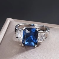 knriquen 925 real silver tanzanite sapphire created moissanite gemstone ring for women wedding engagement fine jewelry gift