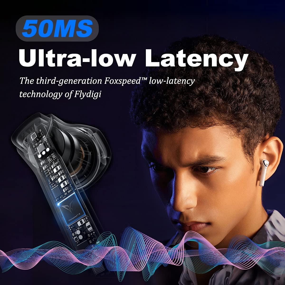 Flydigi Cyberfox X1 Bluetooth Wireless Earbuds Noise-Canceling Headphones 50Ms Ultra-Low Latency Gaming Earbuds, 13.4Mm Drivers enlarge