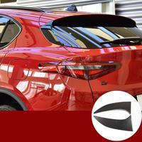 For Alfa Romeo Stelvio 2017-20 ABS plastic Carbon Fiber Style Tail Door Triangle Decorative Panel Trim Car Exterior Accessories
