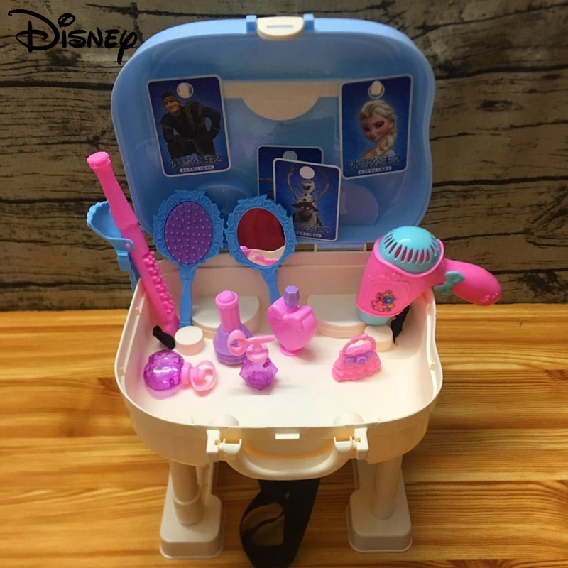 Nueva Disney Kids Play House Dolls Frozen 2 Elsa Princess bolsa de maquillaje impermeable bolsas cosméticas cubierta de carrito para regalos de cumpleaños de niña