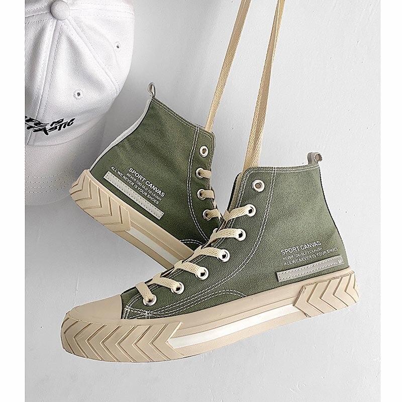 Кеды мужские высокие, Вулканизированная подошва, удобные кроссовки, высокие кеды, корейский стиль, для скейтборда, осень