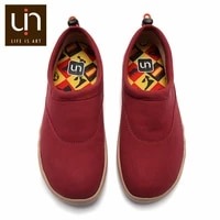 uin laredo series autumnwinter shoes womenmen microfiber suede warm sneakers blackred loafers for ladies outdoor casual flats