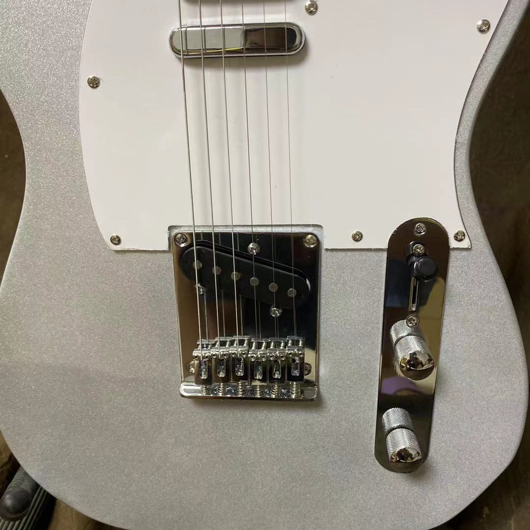 Tele Electric Guitar Silver Color Chrome Hardware Rosewood Fingerboard High Quality Guitarar Free Shipping enlarge