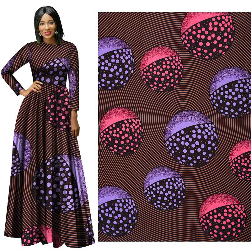 Tela púrpura invierno nuevo estilo nacional poli-impresión tela vestido ropa tela 100% poliéster africano tela de cera tecido