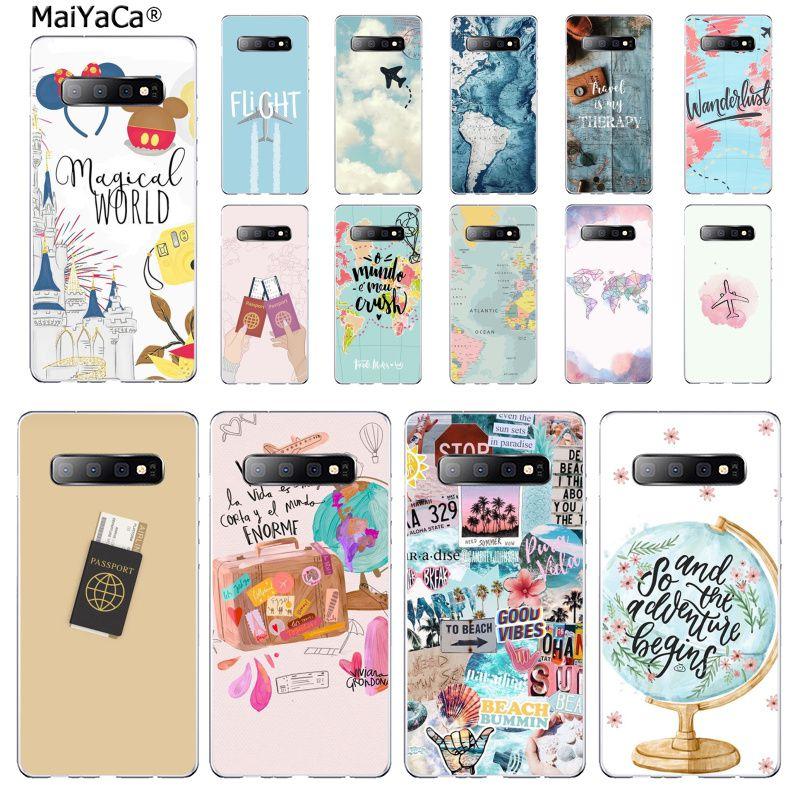 MaiYaCa, funda para teléfono móvil de viaje con mapa del mundo, funda para Samsung S7 EDGE S8 S9 S10 S20 PLUS S10 LITE S10 5G