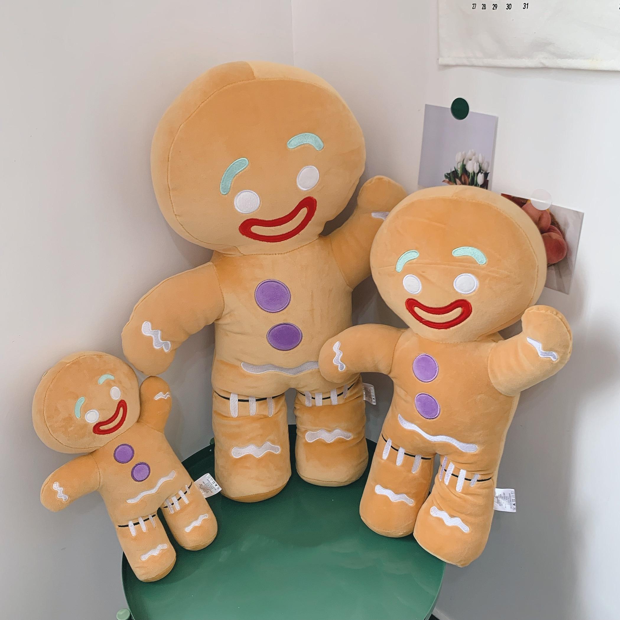Kawaii Shrek Gingerbread Man Bigheadz Doll Stuffed Plush Toys Soft Sofa Cushion Pillow Dolls Childrens Gift birthday present