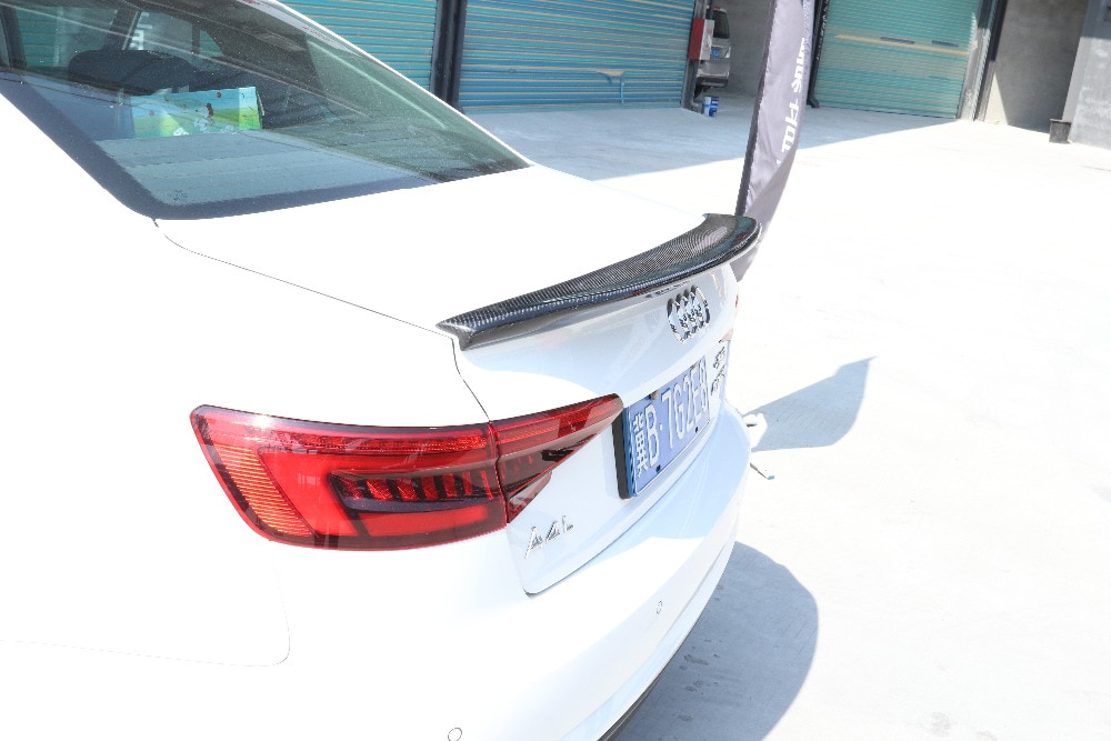 Углеродное волокно заднее крыло багажника выступ Спойлеры для Audi A4 S4 B9 Non-Sline седан 2013 2014 2015 2016