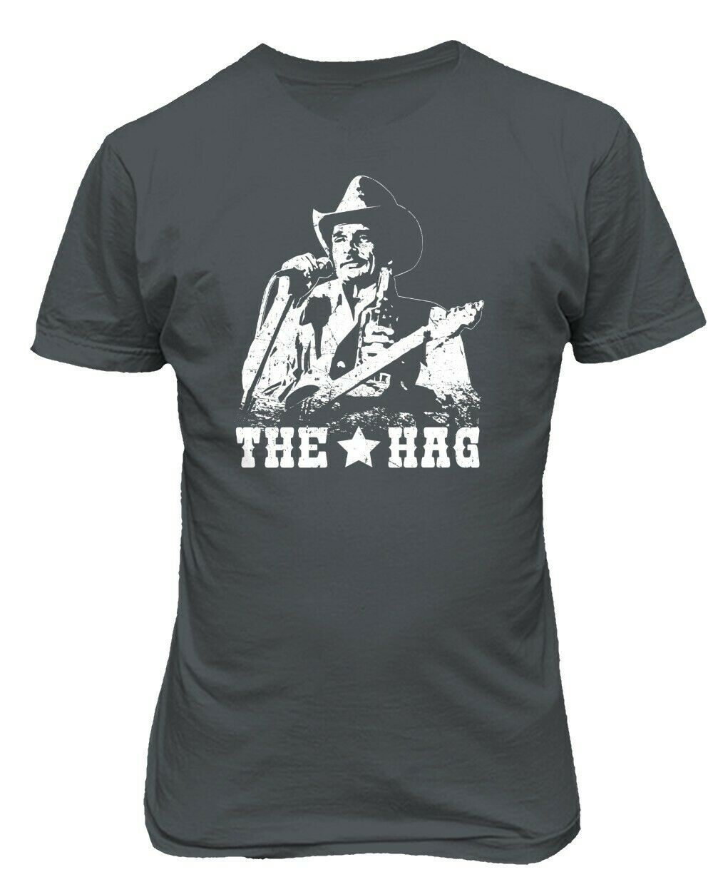 Merle Haggard Vintage Land Musik Outlaw Redneck Konzert Band Männer T-Shirt