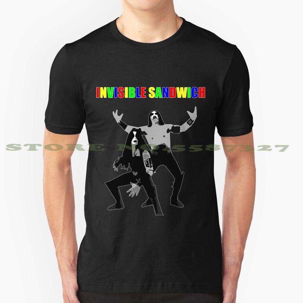 Divertida camiseta de verano de Sandwich Invisible para hombres y mujeres, inmortal, Metal negro, Metalhead, Norway Corpse Paint