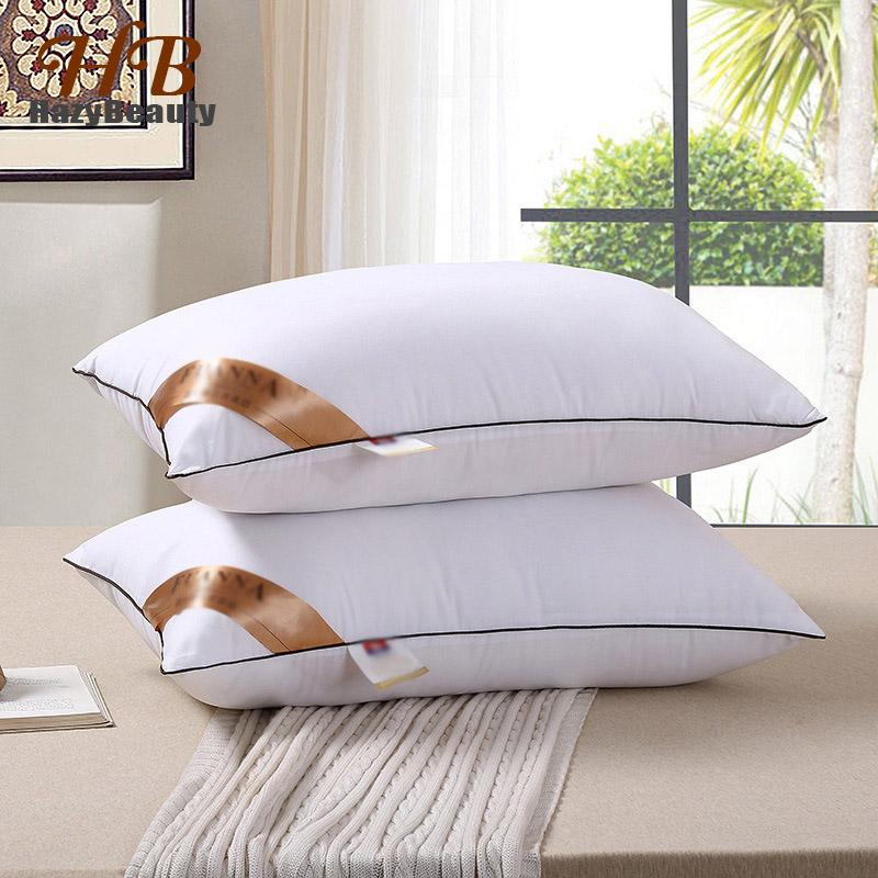 2Pcs Super Elastic Bedding Pillow Cotton Filling Inner Memory Neck Pillow Bedroom Head Sleepping for Adults
