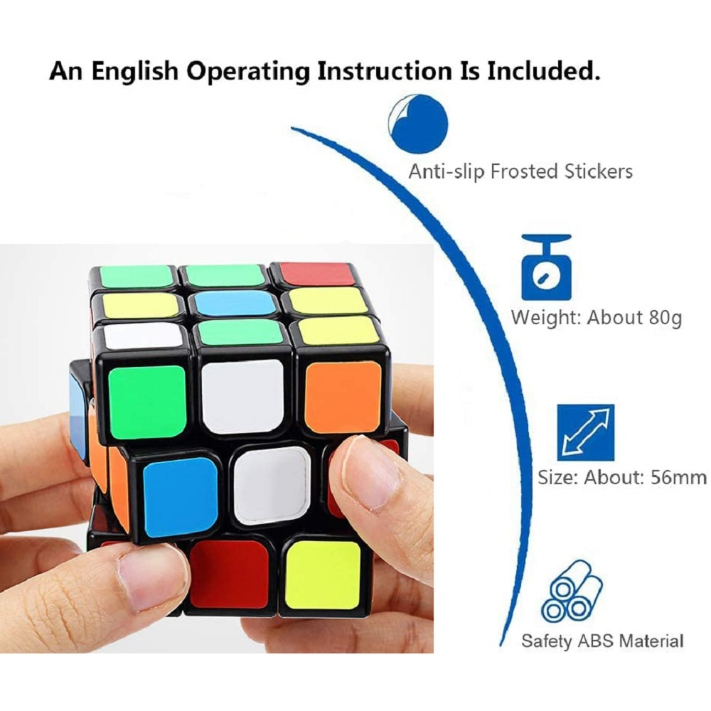 LEGAO THOMAS Puzzle Cube Toy Children's Decompression Intellectual Early Education Learning Square Gif Third-Order ABS Material enlarge