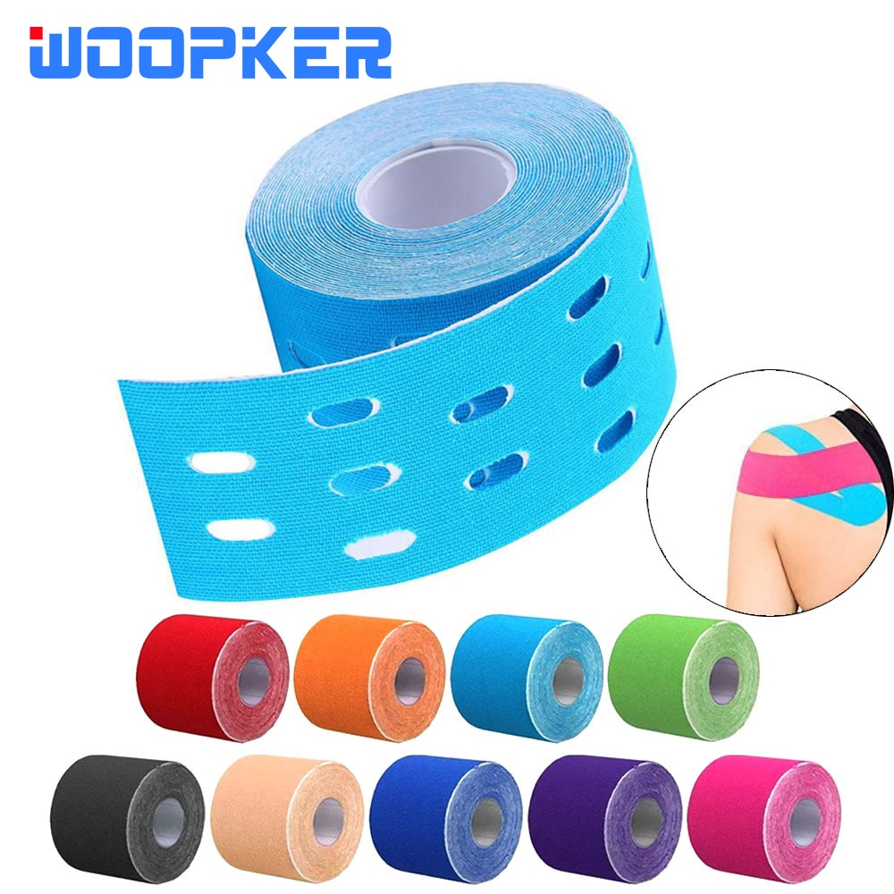 1Pc Kinesiology Tape 500x5cm Muscles Sports Care Elastic Physio Roll Punch Therapeutic Kinesio Teip