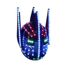 Casque lumineux clignotant à la mode   Casques à la mode, chapiteau lumineux scintillant, casque à chute deau, Robot casque combinaisons, accessoires
